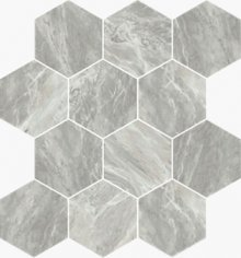 Imperial Esagona Levigato Bardiglio - dlaždice mozaika 25x29 šedá
