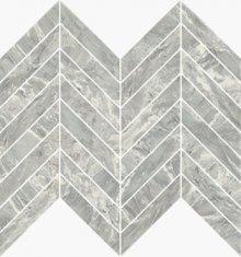 Imperial Chevron Levigato Bardiglio - dlaždice mozaika 25,5x29,8 šedá