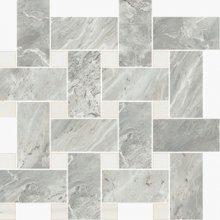 Imperial Intrecio Levigato Bardiglio/White Dolomite - dlaždice mozaika 30x30 šedá