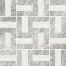 Imperial Cross Satin/Lev. Bardiglio/White Dolomite - dlaždice mozaika 30x30 šedá