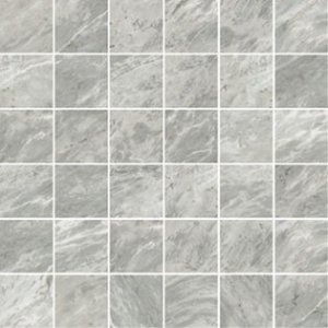 Imperial Mosaico 5x5 Satin Bardiglio - dlaždice mozaika 30x30 šedá