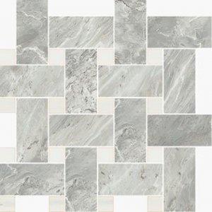 Imperial Intrecio Satin Bardiglio/White Dolomite - dlaždice mozaika 30x30 šedá