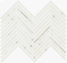 Lisca Levigato White Dolomite - dlaždice mozaika 41,5x30 bílá lesklá