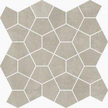 Mosaico Losanga Ash - dlaždice mozaika 27x27 šedá