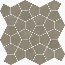 Mosaico Losanga Ciment - dlaždice mozaika 27x27 šedá