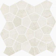 Mosaico Losanga Plume - dlaždice mozaika 27x27 bílá