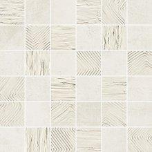 Mosaico 5x5 Mix Plume - dlaždice mozaika 30x30 bílá