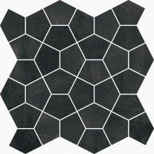 Paris Mosaico Losanga Noir - dlaždice mozaika 27x27 černá