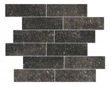 Muretto Black - dlaždice mozaika 38x40 černá