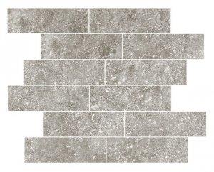 Kingstone Muretto Platinum - dlaždice mozaika 38x40 šedá