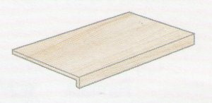 Norgestone Gradino Elle Rett. Ivory - schodovka 33x120x4 krémová