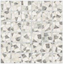 Mosaico 5x5 Levigato Spaccatella - dlaždice mozaika 30x30 šedá lesklá