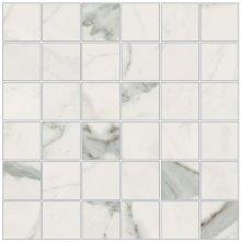 Imperial Mosaico 5x5 Naturale Bianco Apuano - dlaždice mozaika 30x30 bílá