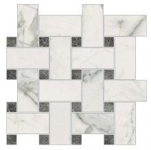 Imperial Intrecio  Naturale Bianco Apuano - dlaždice mozaika 30x30 bílá