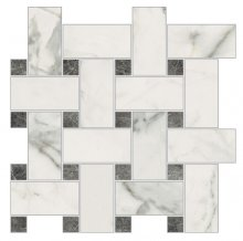 Imperial Intrecio  Levigato Bianco Apuano - dlaždice mozaika 30x30 bílá
