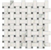 Imperial Trama Levigato Bianco Apuano - dlaždice mozaika 30x30 bílá