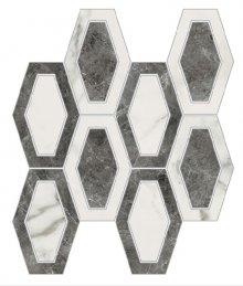 Imperial Losanga Naturale Bianco Apuano - dlaždice mozaika 26x26 bílá