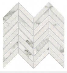 Imperial Chevron Levigato Bianco Apuano - dlaždice mozaika 25,5x29,8 bílá
