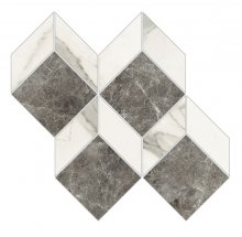 Imperial Mosaico 3D Levigato Bianco Apuano - dlaždice mozaika 28x27 bílá
