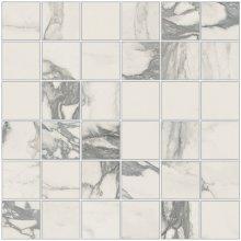 Imperial Mosaico 5x5 Levigato Bianco Arabescato - dlaždice mozaika 30x30 bílá