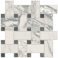 Imperial Intrecio Levigato Bianco Arabescato - dlaždice mozaika 30x30 bílá
