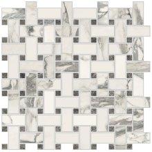 Imperial Trama Levigato Bianco Arabescato - dlaždice mozaika 30x30 bílá