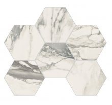Imperial Esagona Naturale Bianco Arabescato - dlaždice mozaika 29,3x38 bílá