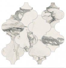 Imperial Provenzale Levigato Bianco Arabescato - dlaždice mozaika 30x32,4 bílá