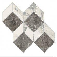 Imperial Mosaico 3D Levigato Bianco Arabescato - dlaždice mozaika 28x27 bílá