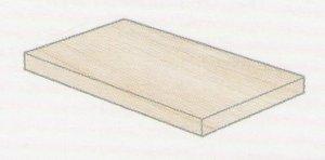 Oxy Angolo DX Rett. Bianco - schodovka pravá 33x120x4 bílá