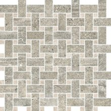 Trama Oxide/Sand Moon - dlaždice mozaika 30x30 šedá