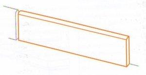 Battiscopa Oxide - dlaždice sokl 7x60 šedá