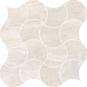 VaiI Mos. Peacock White Lev.- dlaždice mozaika 30x30 bílá