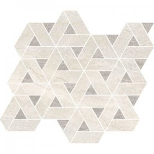 VaiI Mos. Geo White/Grey Lev.- dlaždice mozaika 30x30 bílá