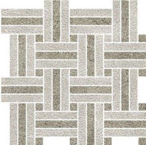 Touché Intreccio Mix Fossil/Seal - dlaždice mozaika 30x30 šedá