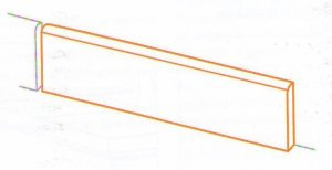 Touché Battiscopa Fossil - dlaždice sokl 7x60 šedá
