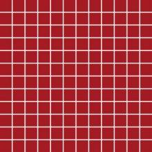 Chic Mosaico 2,5x2,5 Rosso - obkládačka mozaika 30x30 červená