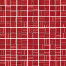 Chic Mosaico Lumiere Rosso - obkládačka mozaika 30x30 červená