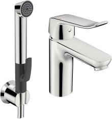 Hansacare - páková umyvadlová baterie s ruční sprchou