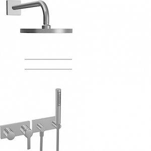 Hansaronda (Hansamatrix) - Podomítková sprchová baterie - instalační balíček 8.10, vrchní sada