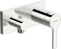 Hansaronda (Hansamatrix) - podomítková sprchová baterie s připojovacím kolínkem, vrchní sada
