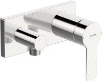 Hansaligna (Hansamatrix) - podomítková sprchová baterie s připojovacím kolínkem, vrchní sada