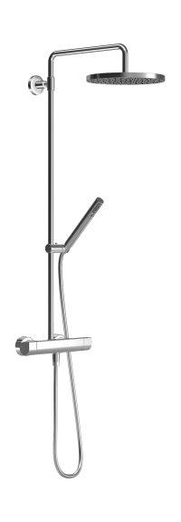 Hansatempra Style - nástěnná termostatická sprchová baterie, horní a ruční sprcha