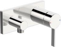 Hansaloft (Hansamatrix) - podomítková sprchová baterie s připojovacím kolínkem, vrchní sada