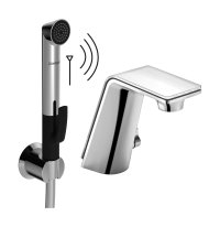 Alessi Sense by Hansa - Elektronická baterie pro umyvadlo, s funkční sprchou s dálkovým ovládáním