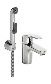 Hansapinto - Páková umyvadlová baterie s ruční sprchou