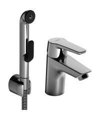 Hansapolo - páková umyvadlová baterie s ruční sprchou