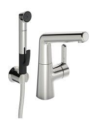 Hansadesigno - Páková umyvadlová baterie, s funkční sprchou