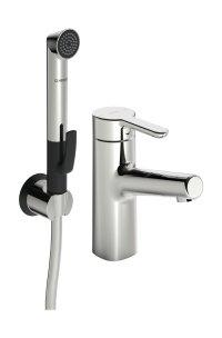 Hansadesigno - Páková umyvadlová baterie, s funkční sprchou s dálkovým ovládáním