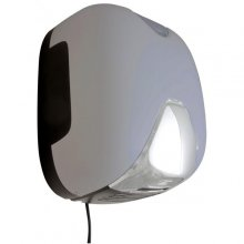 Empire Laserflow UV Basic BF Automatic - HEPA osoušeč rukou, ABS stříbrný plast, proud vzduchu ve tvaru clony